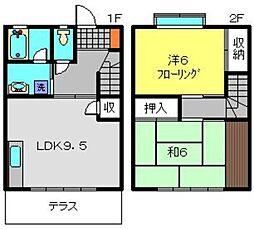 [テラスハウス] 神奈川県横浜市南区大岡5丁目 の賃貸【/】の間取り