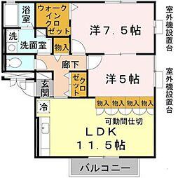 大阪府堺市東区日置荘北町3丁の賃貸マンションの間取り