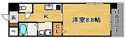 阪急京都本線 上新庄駅 徒歩10分の賃貸マンション 4階1Kの間取り
