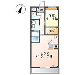 泉北高速鉄道 和泉中央駅 徒歩25分の賃貸マンション 2階1LDKの間取り