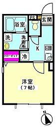 東京都大田区北千束1丁目の賃貸マンションの間取り