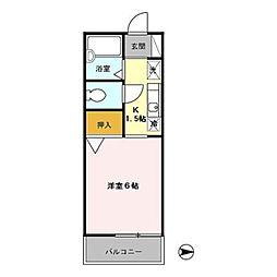 東京都青梅市東青梅5丁目の賃貸アパートの間取り