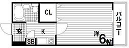 メゾンパル2[1階]の間取り