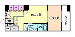 大阪府大阪市西区立売堀1丁目の賃貸マンションの間取り