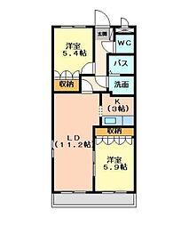ラ・ポワール[2階]の間取り