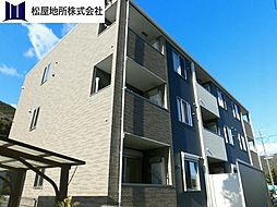 愛知県田原市大久保町西山の賃貸アパートの外観