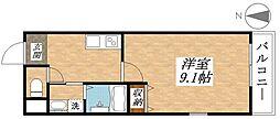 近鉄南大阪線 今川駅 徒歩3分の賃貸アパート 1階1Kの間取り
