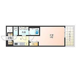 阪神本線 野田駅 徒歩5分の賃貸マンション 3階1Kの間取り
