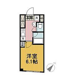 シリウス横濱[101号室]の間取り