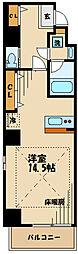 フェリーチェ豊田 7階ワンルームの間取り