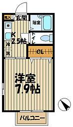 シャトル鎌倉[203号室]の間取り