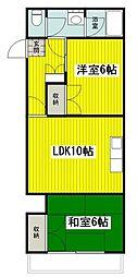 東京都立川市柏町4丁目の賃貸マンションの間取り