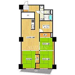 東十条マンション[3階]の間取り