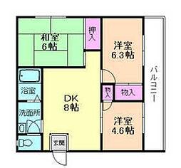 渋谷セントレイトハイツ[1階]の間取り