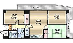 レグルス堺東[7階]の間取り