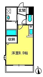 メゾン・プレ・パルクII[3階]の間取り