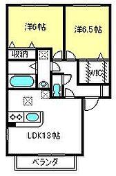 コアロード6[2階]の間取り