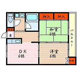 滋賀県彦根市安清町の賃貸アパートの間取り