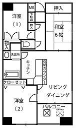 グランドメゾン北山田[402号室]の間取り