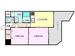 パレス東洋8号館[3階]の間取り