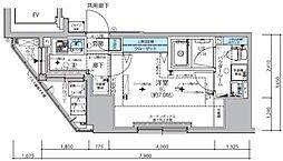 JR総武線 信濃町駅 徒歩6分の賃貸マンション 9階1Kの間取り
