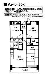 ヴィラージュ今津(一般)[4階]の間取り