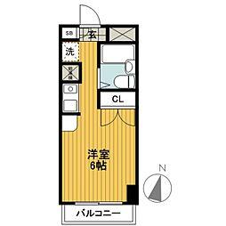 ジェイラム横濱[306号室]の間取り