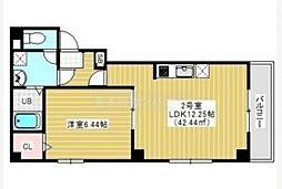 JR総武線 千葉駅 徒歩15分の賃貸マンション 4階1LDKの間取り