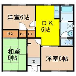 [一戸建] 栃木県小山市西城南5丁目 の賃貸【/】の間取り