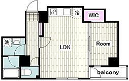 東急東横線 反町駅 徒歩1分の賃貸マンション 6階1LDKの間取り