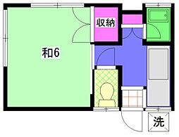 唐木アパート[3号室]の間取り