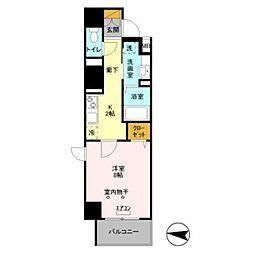 JR常磐線 馬橋駅 徒歩3分の賃貸マンション 11階1Kの間取り