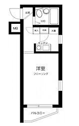 東京メトロ千代田線 根津駅 徒歩5分の賃貸マンション 4階1Kの間取り