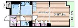 北大阪急行電鉄 桃山台駅 徒歩6分の賃貸マンション 4階1DKの間取り