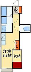 JR常磐線 我孫子駅 徒歩9分の賃貸アパート 1階ワンルームの間取り