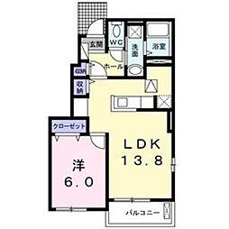 メゾン ド エスパス[1階]の間取り
