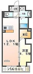 仮)本町新築マンション 8階1LDKの間取り