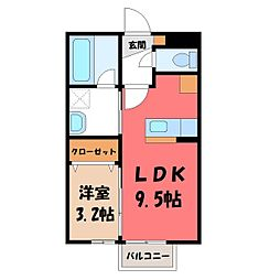 LAULE'A 1階1SKの間取り