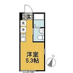 ランド横浜ウエスト[101号室]の間取り