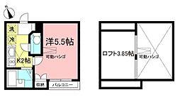 メゾンフラワー高井戸東[202号室]の間取り
