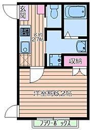 (仮称)荒川区東尾久2丁目計画 2階1Kの間取り