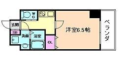 ララプレイス京町堀プロムナード[8階]の間取り
