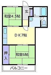 エスポワールイワタ[2階]の間取り