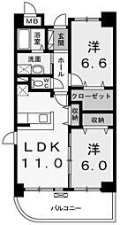 ガーデンスクエア[1階]の間取り