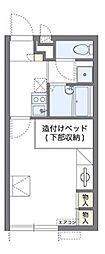 南海高野線 北野田駅 徒歩15分の賃貸アパート 1階1Kの間取り