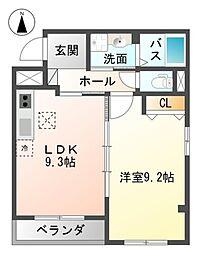 Osaka Metro御堂筋線 新金岡駅 徒歩15分の賃貸マンション 1階1LDKの間取り