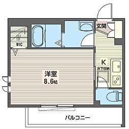 仮)練馬区石神井町1丁目シャーメゾン 3階1Kの間取り