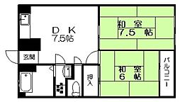 舞松原ビル[505号室]の間取り