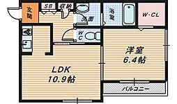 Casa Regio堺東[1階]の間取り