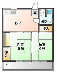 向山アパート[1階]の間取り